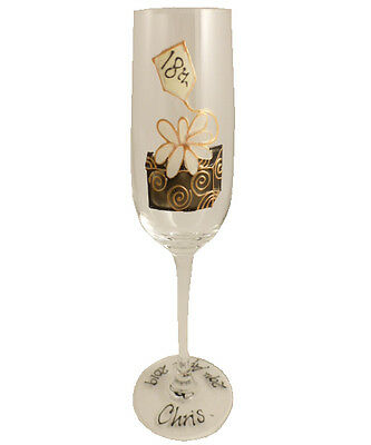 Personalised 18th Birthday Gift Box Champagne Flute