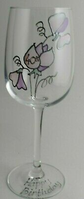 40th Birthday Sweet Pea Gift Wine Glass