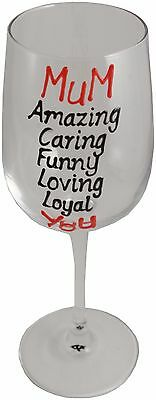 MUM Gift Wine Glass - Mother's Day gift