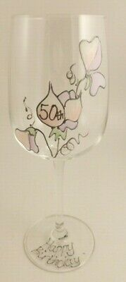 50th Birthday Sweet Pea Gift Wine Glass