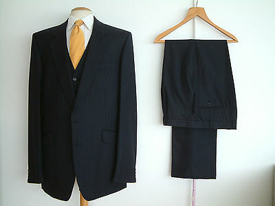 "3 PIECE SUIT..MADE TO MEASURE..44""x 40""..LONG/TALL..SUPERB CONDITION..TALL"