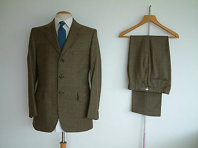 """1960's TWEED SUIT..MAGEE..TOWN & COUNTRY..MOD..38""""x 32""""..WORSTED WOOL..CHAP..MOD"""