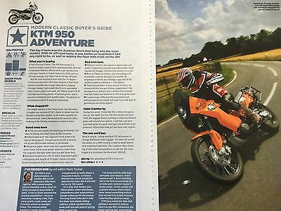 Ktm 950 Adventure - Original 2 Page Buyers Guide Colour Motorcycle Article