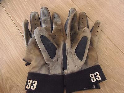 Mike Piazza Game Use Batting Gloves Padres