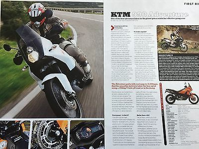 Ktm 990 Adventure - Original 2 Page First Ride Colour Motorcycle Article