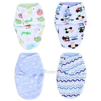 Cute Double Layer Plush Baby Clothes Sleeping Bag Newborn Wrap Swaddling Blanket