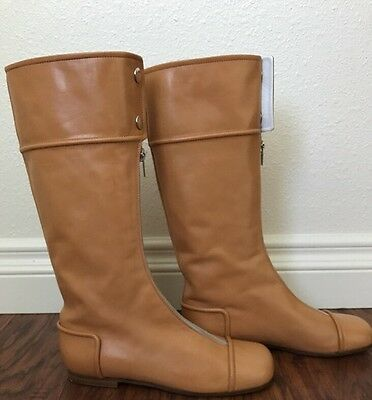 Courreges Paris Designer Vintage Light Brown Boots 1990s Size 37 RARE