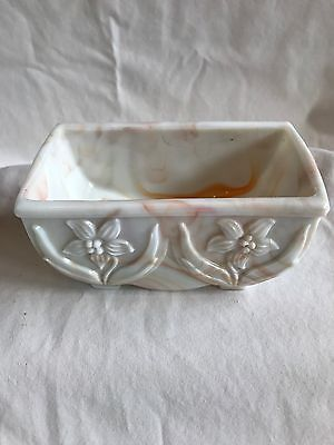 Akro Agate Slag Glass Dish No.657