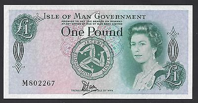 UNC 1983 Isle of Man 1 Pound Plastic P-38a M802267, #008