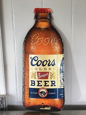 "Coors Banquet Steiney Bottle Tin Sign Approx. 24"" X10"""