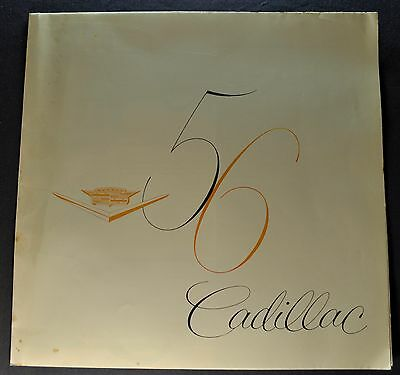 1956 Cadillac Brochure Folder 75 60 Special 61 62 Nice Original 56 Not a Reprint