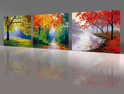NUOLAN ART -canvas Prints, 3 panel Wall Art oil Paintings Printed ...