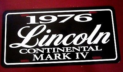 1976 Lincoln Continental MARK IV License plate tag 76 Mark 4 FOUR