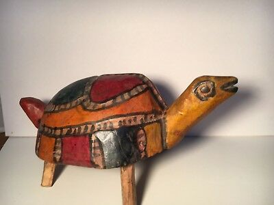 Hand Carved Guatemalan Turtle Hand Painted