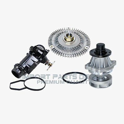 Water Pump Fan Clutch Thermostat Assembly Kit BMW E46 3 Series X5 799/302 New