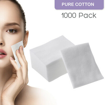 1000pcs Cosmetic Cotton Pads Makeup Remover Nail Polish Facial Cleaner Puff