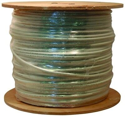 Coaxial Cable 1000ft White RG6 18 AWG Audio Video Electrical Wire Indoor Outdoor