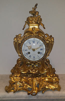 Antique French Early 19th Ormolu Mantel Clock - Louis XVI style  c1810s Movement