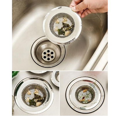 2size Filtre Kitchen Sink Strainers Stainless Steel Drain Protector Tool Pop