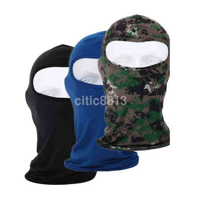 Sun Block Balaclava Tactical Motorcycle Cycling Hunt Out Ski Full Face Mask UK