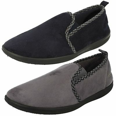 Mens Padders Lewis Navy Slippers Wide G Fitting
