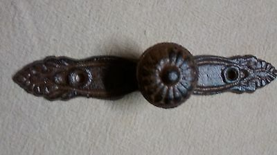 3 Cast Iron  Drawer or Cabinet pull with a knob in the center #090-19