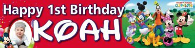 Personalized Birthday Banners - Mickey Mouse Clubhouse Red