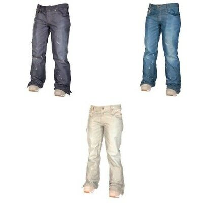 686 Womens Snowboard Pant - Reserved Destructed Denim - Insulated