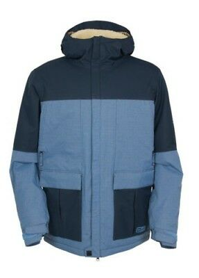 686 Snowboard Jacket - Authentic Insider Insulated - Slate Blue Colorblock 2016