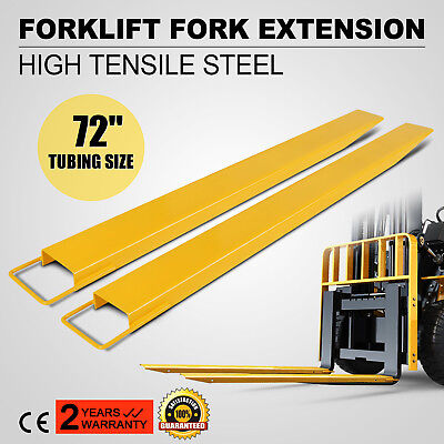 """72""""x6"""" Forklift Pallet Fork Extensions Pair Truck Steel Construction Heavy Duty"""