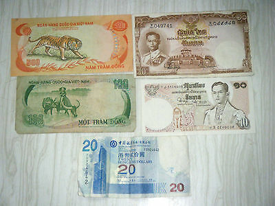 Assorted Lot World Currency Bank Notes