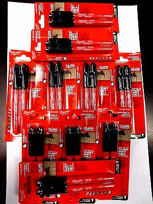 10-Milwaukee 48-22-3105 Inkzall Permanent Fine Point Markers Total 20 Pieces New