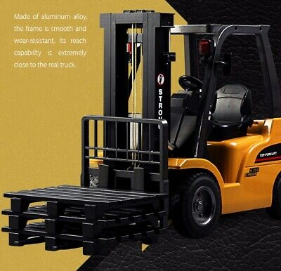 Multi-Players HUINA RC Alloy Forklift Crane Truck 2.4G 8CH Toy Extra 1x Battery