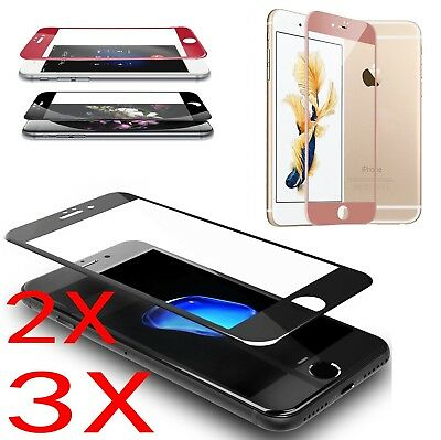 3D Full Cover Tempered Glass Carbon Fiber Screen Protector For iPhone 6 7 P LOT