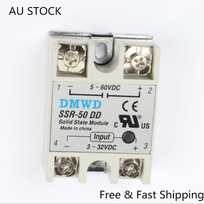 2XSolid State Module Solid-state Relays SSR-10DD DC-DC 10A 3-32V DC/5-60V DC