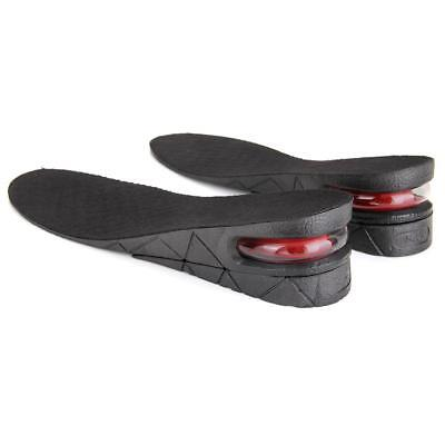 Pair 5cm Height Increase Elevator Shoes Insole Taller Heel Lift Air Cushion New