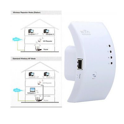 300Mbps Wireless AP Wifi Range Router Network Repeater Extender Booster AU Plug