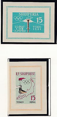Albania    1964  18Th Olympic  Games  Souvenir Sheets   Mnh