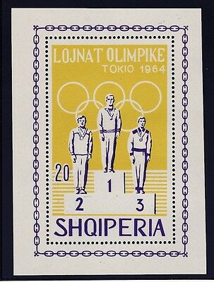 Albania    1964  18Th Olympic  Games  Souvenir Sheet   Mnh  No2
