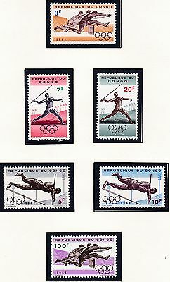 Congo Republic   1964  18Th Olympic  Games  Mnh