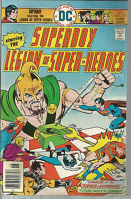 SUPERBOY #217 Starring The Legion of Super-Heroes Mike Grell Art Crisp Issue! DC