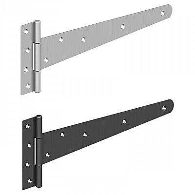 "Heavy Duty Tee Hinges Black/Galvanised Tee Hinges 4-6-8-10-12-14-16-18""  Gate Sh"