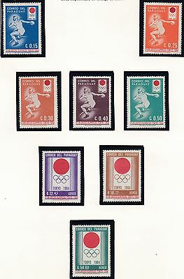 Paraguay   1964  18Th Olympic  Games    Mnh