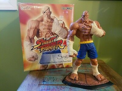 "Rare! Street Fighter - SAGAT 12"" Resin Statue By SOTA Toys! Collector's Edition!"