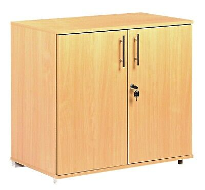 Filing cabinet desk height lockable two door storage cupboard unit office home