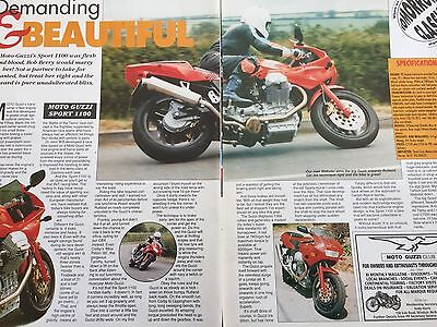 Moto Guzzi Sport 1100 - Original 2 Page Motorcycle Article