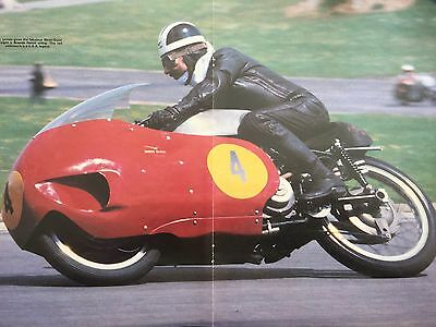 Moto Guzzi V8 Racer / Bill Lomas - Original Colour A3 Motorcycle Centrefold