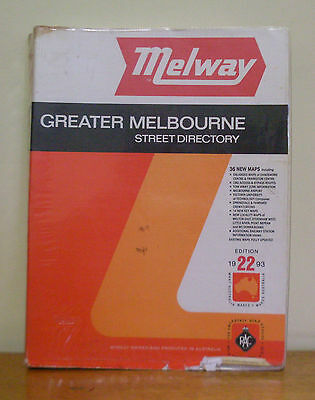 MELWAY Greater Melbourne Street Directory 1993  Edition 22