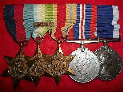 Royal Navy Elizabeth II WW2 Long Service Group of (5) Medals H.M.S. Newfoundland