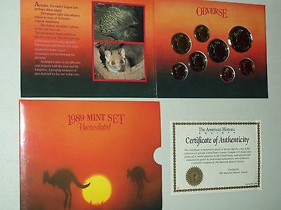 1989 Australia Mint Set Uncirculated With Free Shipping